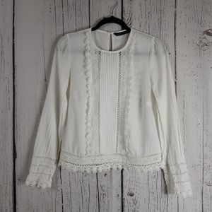 Zara Woman White Blouse Size Small